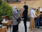 انتظام سير لجان الثانوية العامة بالقاهرة وتسلم الطلاب أدوات الوقاية.. صور
