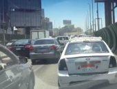فيديو.. كثافات مرورية أعلى كوبرى أكتوبر للمتجه من مدينة نصر للمهندسين