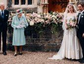 الأميرة بياتريس تحتفل بزفافها بفستان وتاج جدتها الملكة إليزابيث