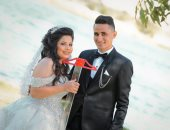 """زواج فى زمن كورونا.. أبانوب وريهام من المنيا """"عملوا الفرح بالقلم والمسطرة"""""""