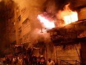 """""""الحماية المدنية """" تسيطر على حريق فى محل تجارى بالمهندسين"""