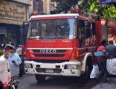 أمن الجيزة يعاين عقار لحصر تلفيات حريق ببولاق الدكرور