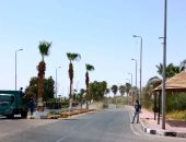 مدينة أبو سمبل السياحية تستعد للموسم السياحى بتشجير الشوارع