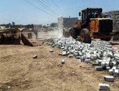إزالة التعديات المخالفة على الأراضى الزراعية بمدينة الحسينية بالشرقية
