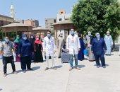 تعافي 25 مصابا بكورونا بينهم مسنة 90 عاما وخروجهم من مستشفى الواسطى ببنى سويف