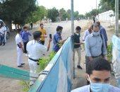 إجراءات أمنية مشددة بمحيط لجان الثانوية العامة بالإسكندرية.. صور