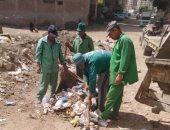 حي ثان طنطا يشن حملة لرفع تلال القمامة والأتربة من الشوارع