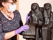 شاهد.. تمثال مصرى قديم عمره 3000 سنة يعرض لأول مرة بمتحف فى إنجلترا
