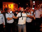 صور.. كر وفر بين الشرطة والمتظاهرين فى إسرائيل بسبب كورونا
