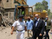 """محافظ القاهرة يتابع إزالة منطقة الطيبى تمهيدا لإنشاء """"روضة السيدة 2"""""""