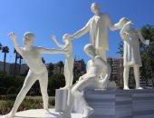"""""""مجندون ضد كورونا"""".. عمل فنى بجامعة المنصورة يجسد تضحيات الجيش الأبيض (صور)"""