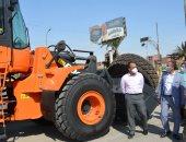 """محافظ المنيا يتفقد عددا من المعدات الجديدة لرفع كفاءة منظومة النظافة """"صور"""""""