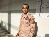 كلنا الجيش المصرى.. أحمد يشارك بصورته بالزى العسكرى خلال فترة التجنيد