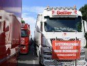 سائقو الشاحنات الألمان يحتجون على تدابير فيروس كورونا