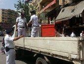 شرطة المرافق تشن حملة بالتنسيق مع مسئولى الأحياء لإزالة الإشغالات بالجيزة