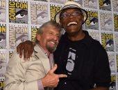 مايكل دوجلاس يستعيد ذكرياته مع صامويل جاكسون فى العرض الأول لفيلم Ant-Man