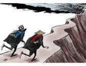 كاريكاتير صحيفة سعودية.. أمريكا والصين يتنافسون لاشعال الحرب الباردة بينهم