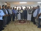 رئيس البرلمان الليبى يبحث مع عدد من القيادات المحلية تطورات الأزمة الليبية