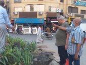 صور.. رئيس مدينة الأقصر: البدء فى زراعة وتجميل ميدان صلاح الدين بوسط المدينة