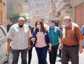 جولة لمنال عوض بمدينة دمياط لمتابعة إجراءات تلقى طلبات وسداد رسوم التصالح