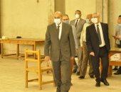 """جولة تفقدية لرئيس جامعة المنيا لامتحانات الفرق النهائية بــ""""التربية الرياضية"""""""
