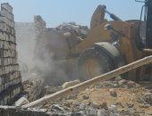 صور.. إزالة 456 حالة تعدٍ على أراضى الدولة والزراعات فى بنى سويف