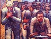 """100 لوحة مصرية.. """"عمال الوردية"""".. حامد عويس يتعاطف مع العمال"""