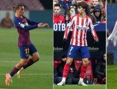 جريزمان يتفوق على هازارد وجواو فيليكس فى الدوري الإسباني
