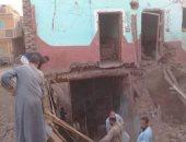 انهيار جزء من منزل بقرية الطومية بالكيمان دون مصابين جنوب الأقصر