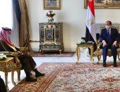 """وزير خارجية السعودية على """"تويتر"""": تشرفت بنقل تحيات خادم الحرمين للرئيس السيسى"""