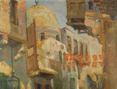 """100 لوحة مصرية.. """"منظر من القلعة"""" إبداع يوسف كامل"""