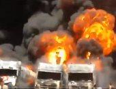 اندلاع حريق هائل بأحد المصانع قرب طهران