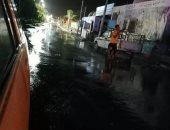 سقوط أمطار متوسطة بمدينة أبوسمبل جنوب أسوان