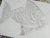 """""""حبيبة"""" طالبة الفنون الجميلة تشارك بمجموعة مميزة من الرسومات الفنية"""