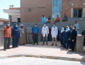 تعافى 10 حالات جديدة من فيروس كورونا بمستشفى الواسطى المركزى ببنى سويف