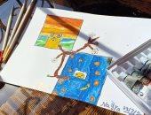 """""""نيرة"""" من النزهة الجديدة تشارك صحافة المواطن عددا من رسوماتها الفنية"""