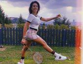 بعد رحلة البحر مع رونالدو.. جورجينا رودريجيز تستعرض لياقتها بملابس التنس.. صور