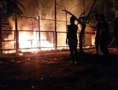 قارئ يشارك بصورة للسيطرة على حريق هائل فى العاشر من رمضان بالشرقية
