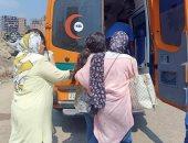 إصابة شخصين فى حادث انقلاب سيارة بناحية مركز المنصورة.. صور