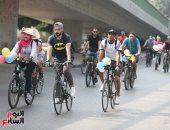 شباب الزمالك والمهندسين يحتفلون بأول أيام العيد بمسيرة دراجات