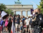 """تحت شعار """"الحرية"""".. مظاهرات ضخمة في برلين ضد قيود الحكومة لمواجهة كورونا"""
