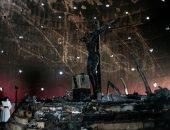 صور.. حريق هائل بكنيسة فى نيكاراجوا إثر إلقاء قنبلة عليها