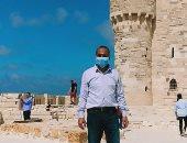 فيديو لايف.. جولة داخل قلعة قايتباى بالإسكندرية فى ثانى أيام عيد الأضحى