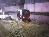 شكوى من غرق شارع القومية بمياه الصرف الصحى في الجيزة