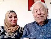 ظهور خاص للمطربة فاطمة عيد وزوجها شفيق الشايب.. في تليفزيون اليوم السابع
