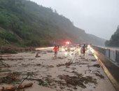 فيديو.. حالة كارثية جراء فيضانات فى كوريا الجنوبية