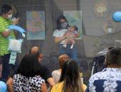 حفل استقبال لرضيع بالمكسيك داخل صندوق زجاجى خوفا من كورونا