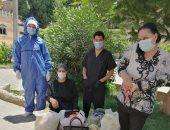 تعافى حالتى إصابة بكورونا وخروجهم من مستشفى حميات بنى سويف