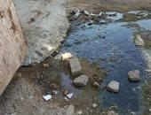 قارئ يشكو تراكم مياه المجارى بحى عتاقة التوفيقية بالسويس بسبب كسر ماسورة الصرف