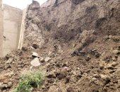 انهيار أجزاء من سور صنعاء القديمة المصنفة بالتراث العالمى.. فيديو وصور